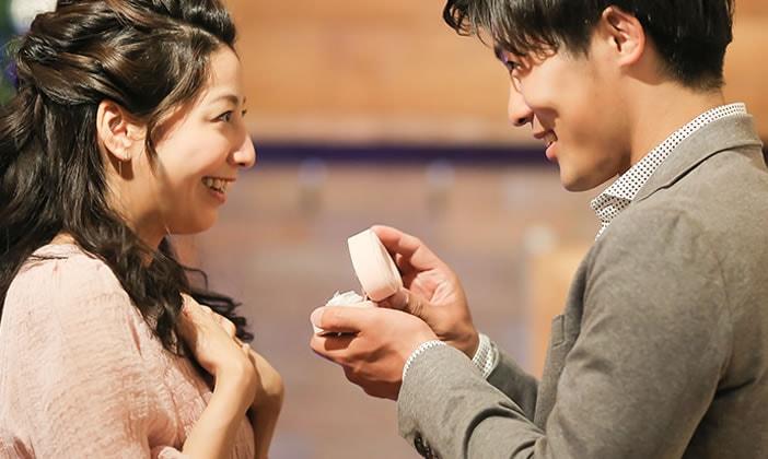 バレンタインデー、彼から彼女にプロポーズ