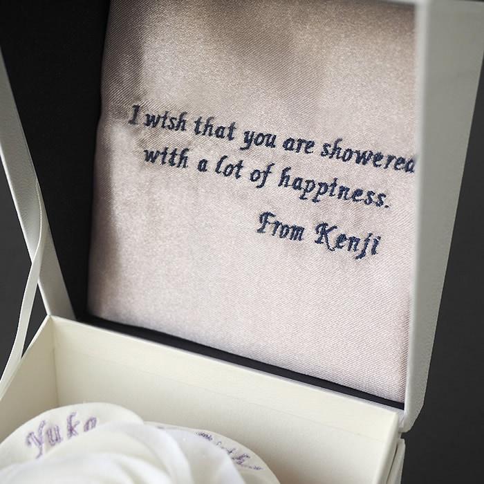 ボックスの内側には愛のメッセージ