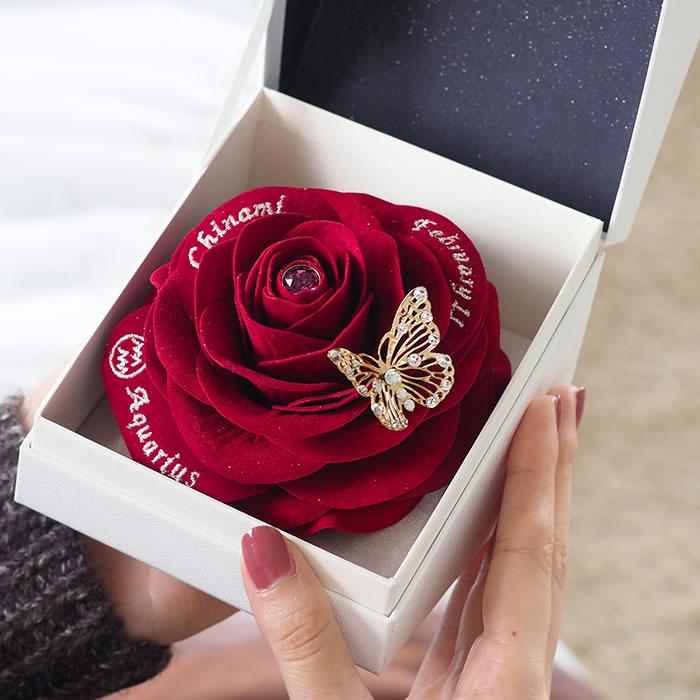 2月生まれに贈る赤バラのバースデーギフト