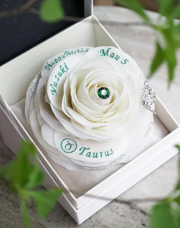 5月生まれに贈る白いバラのバースデーギフト