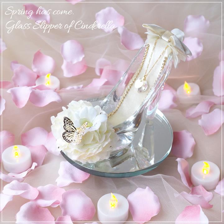 プロポーズ専用ガラスの靴 ホワイト