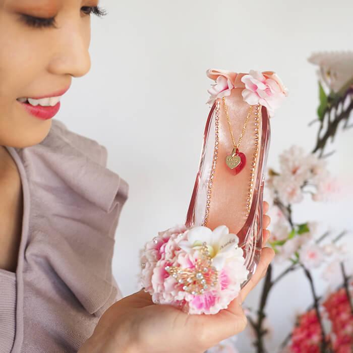 春限定 ガラスの靴桜ピンク