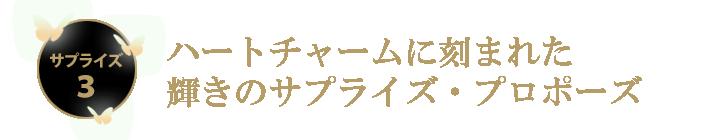 ハートチャームに刻まれた輝きのサプライズ・プロポーズ