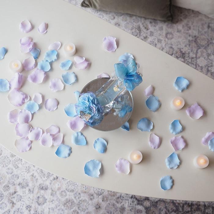 プロポーズ推奨ガラスの靴 ブルー