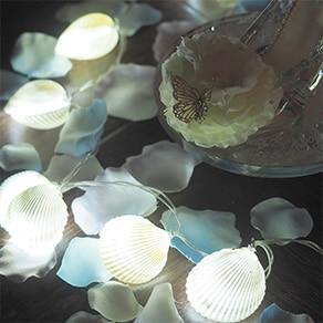 天然貝キャンドルと花びら50枚のサプライズ演出セット
