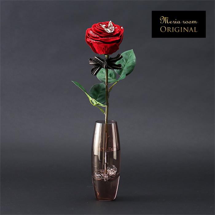 お名前・メッセージ入り!枯れない真っ赤な一輪のバラのプレゼント