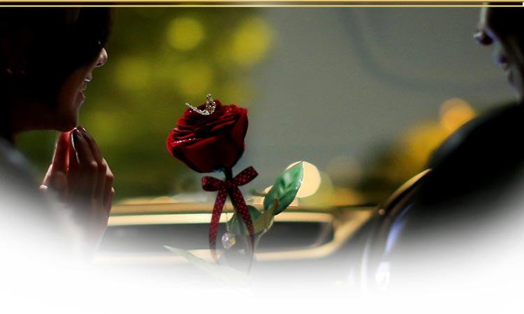1本の赤バラ「メッセージローズ」でプロポーズ