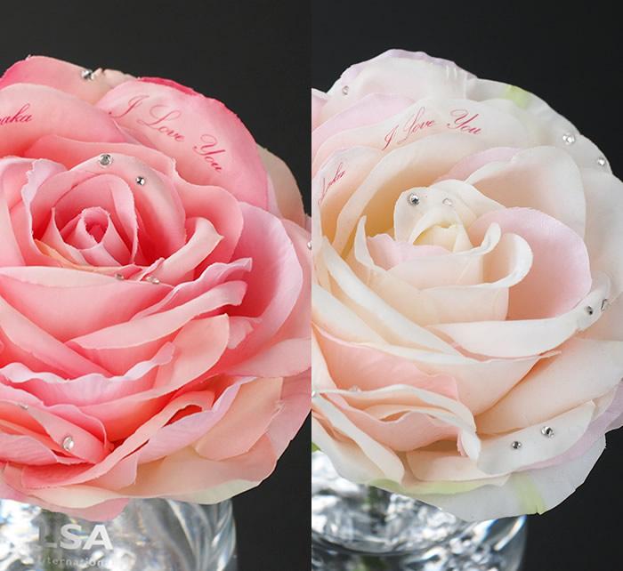 選べる2色のピンクバラ