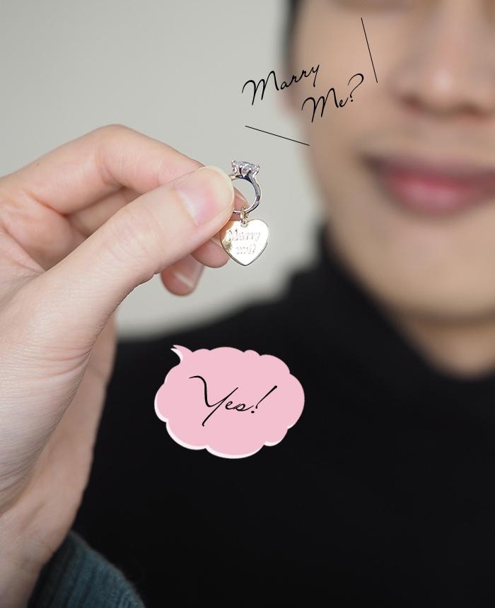 彼女のプロポーズの返事は笑顔で「Yes!」