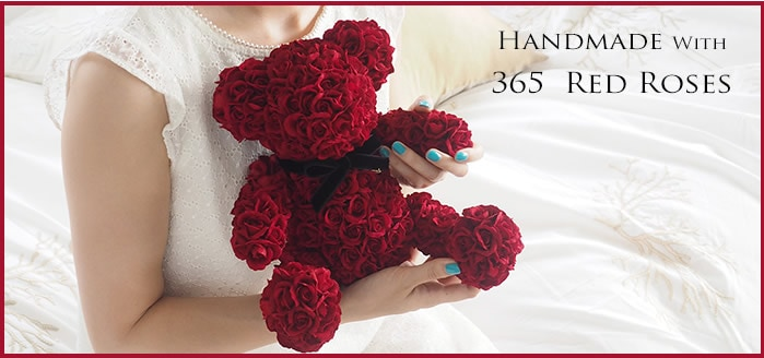 Handmade With 365 Red Roses