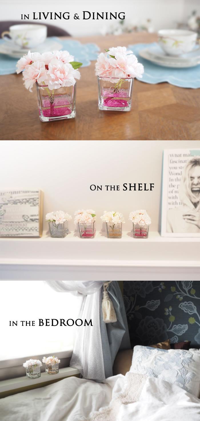 リビングやダイニング、ベッドルームに飾れる桜ボックス