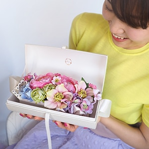 春おすすめ【プロポーズ専用】メッセージフラワーバッグ エタニティ(ピンク系花アレンジ)