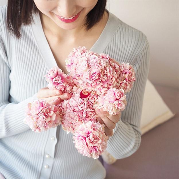 限定【プロポーズ・記念日・誕生日】ローズベアー・カップル(男女のバラ製テディベア)