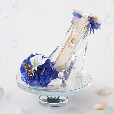 【プロポーズ・シンデレラのガラスの靴】オーシャンブルー(専用ボックス入り)
