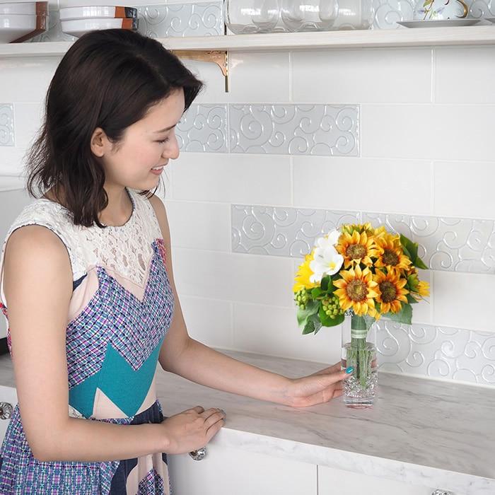 もらったあとすぐに飾れる花瓶付き花束