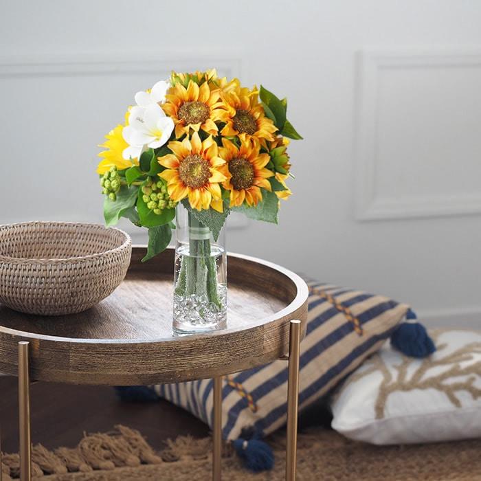 永遠に枯れないメリアルームの「ひまわり」の花束