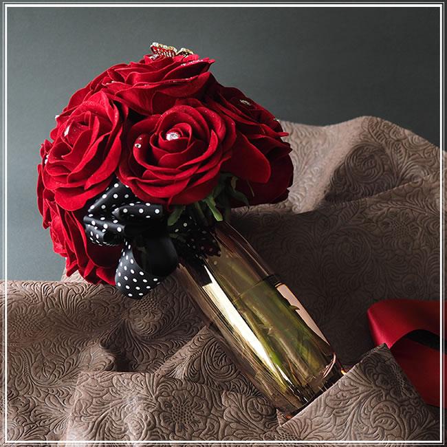 枯れない花束 赤バラ