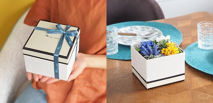 そのまま飾れるシックなボックス