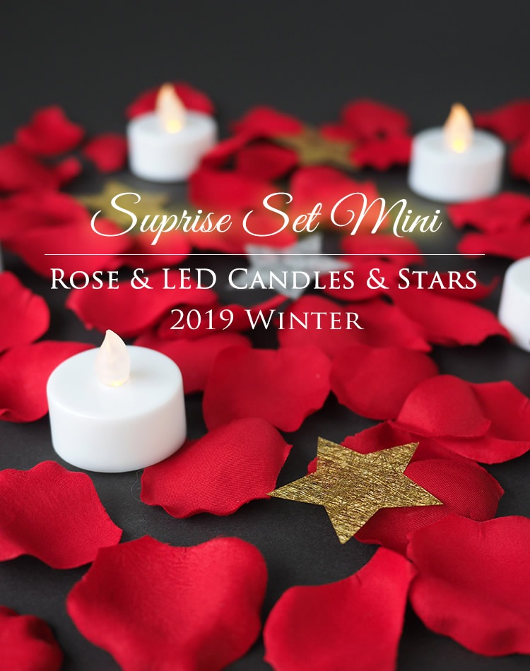 Suprise Set Mini Rose & LED Candles & Stars 2019 Winter