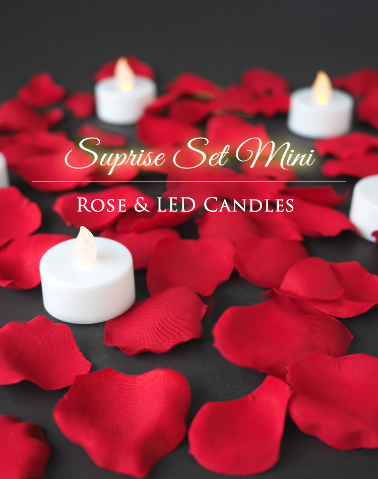 Suprise Set Mini Rose & LED Candles