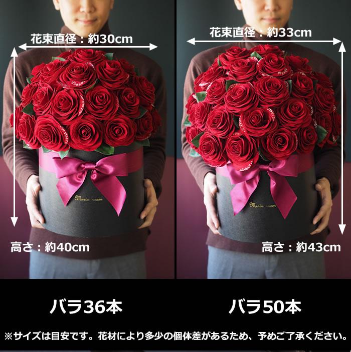 選べる赤バラの本数