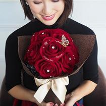 【演出�】バラの花束