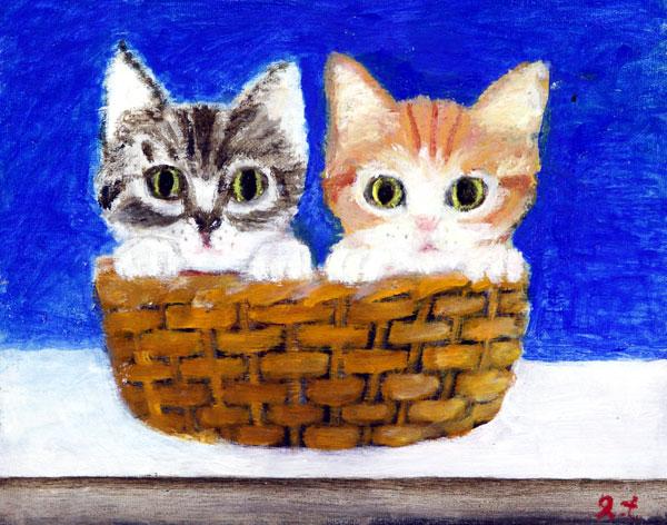 「カゴの猫」 飯原 孝 (新潟県)