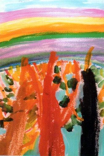 「春の虹」 山口 かほる