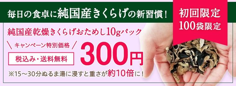 純国産乾燥キクラゲ10gおためし300円