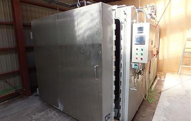 温度と湿度管理の機械の写真