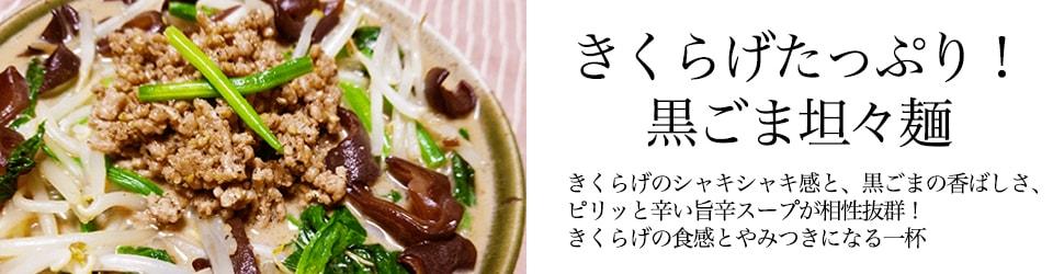 きくらげたっぷり!黒ごま坦々麺