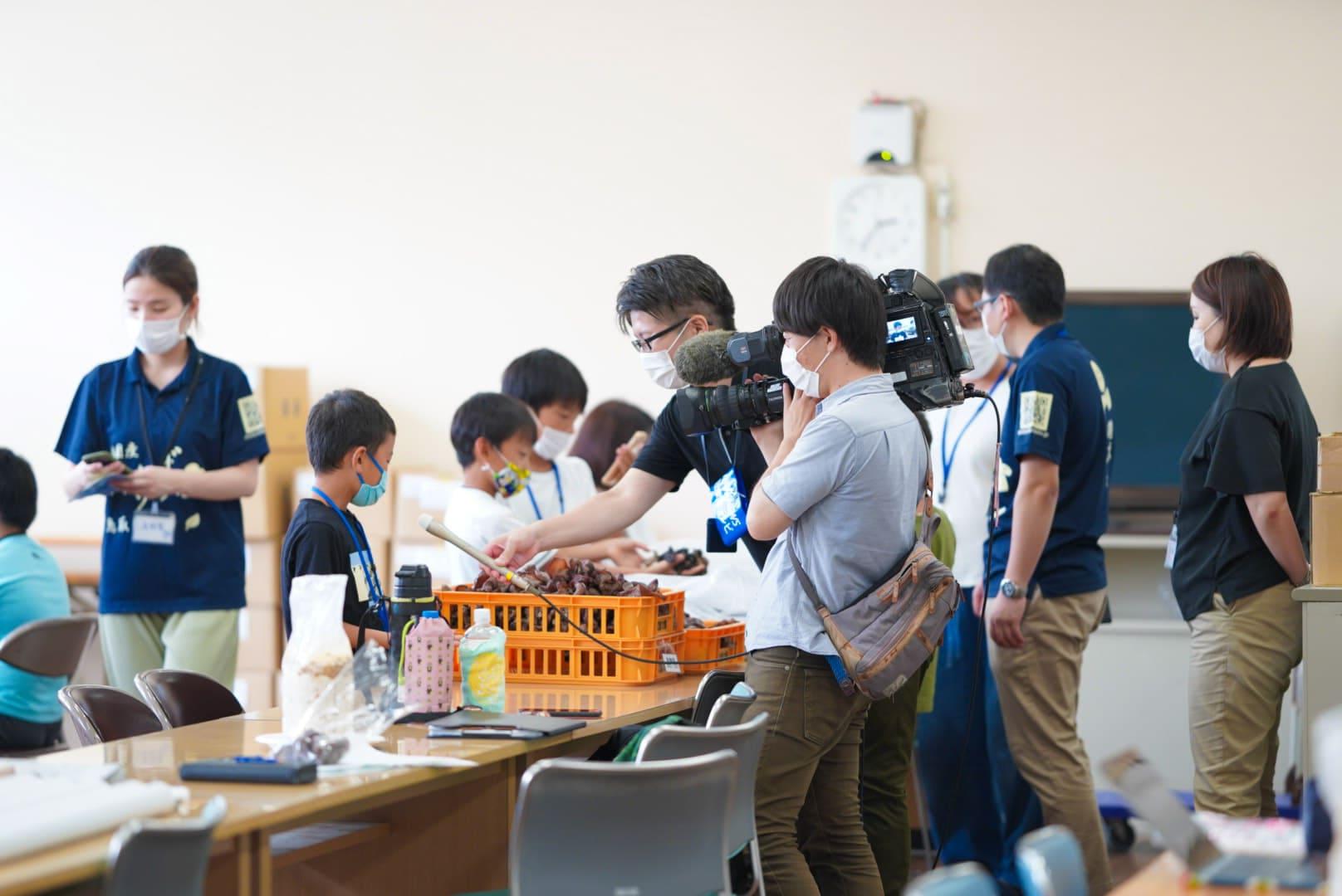 日本海テレビ取材