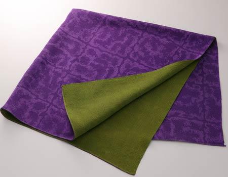京友禅正絹縮緬二巾風呂敷:紫/グリーン