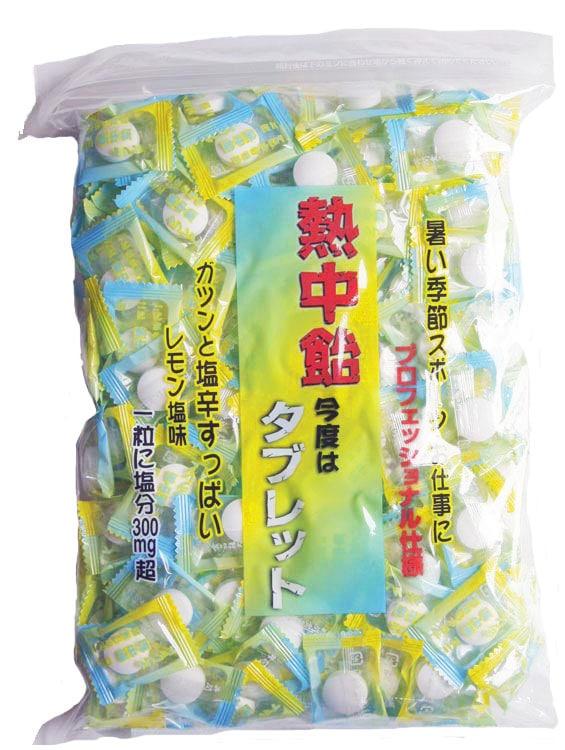 手造りの飴 『地釜本造り』熱中飴タブレット(塩飴)(業務用・大袋)井関食品
