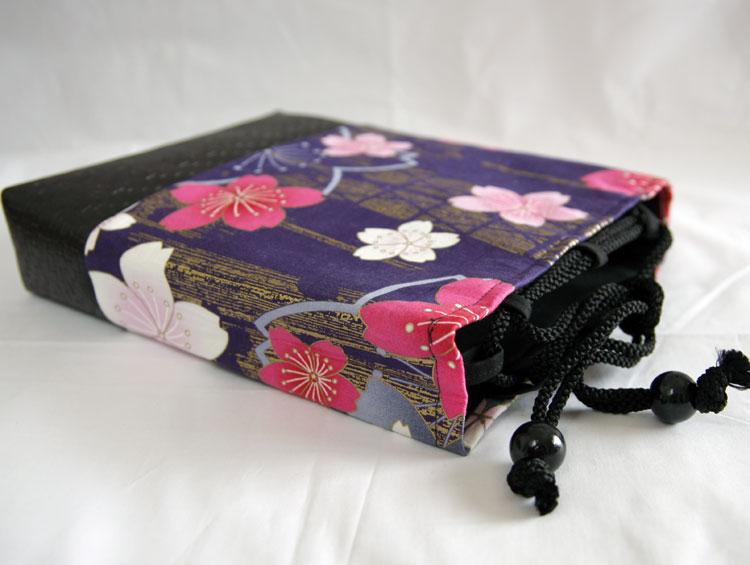 巾着袋 信玄袋【 桜浪漫巾着 紫 】