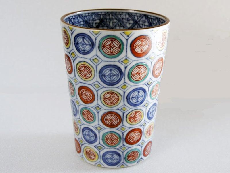 フリーカップ「五彩丸紋」