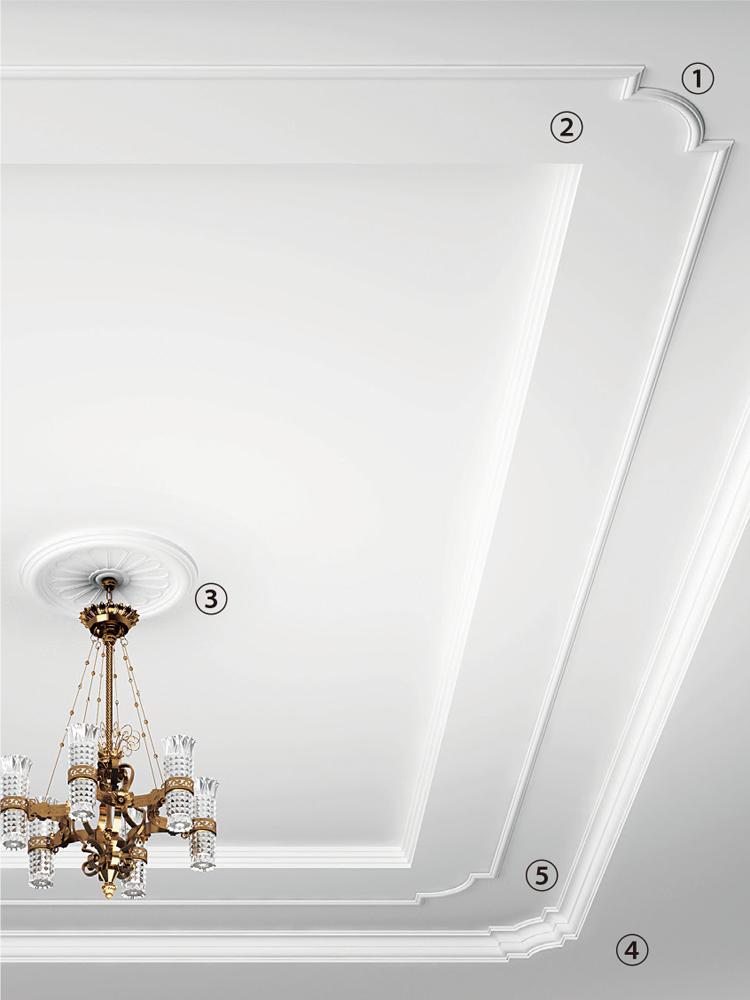 天井装飾の組み合わせ例