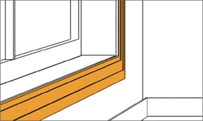 ⑦ 窓付け枠