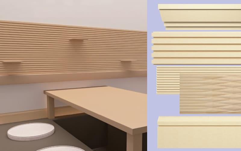 内装用 木製モールディング サンメント