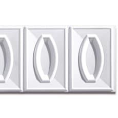 【NPVP001】PVC製壁面装飾ボード 1200×300×18mm