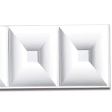 【NPVP006】PVC製壁面装飾ボード 1200×300×18mm