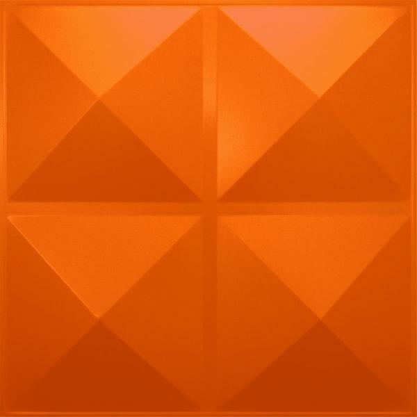 NDSB3001OR スチール製3パネル 3Dジン オレンジ色 300×300mm