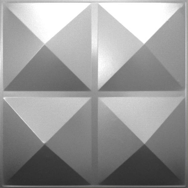 NDSB3001SL スチール製3パネル 3Dジン 銀色 300×300mm