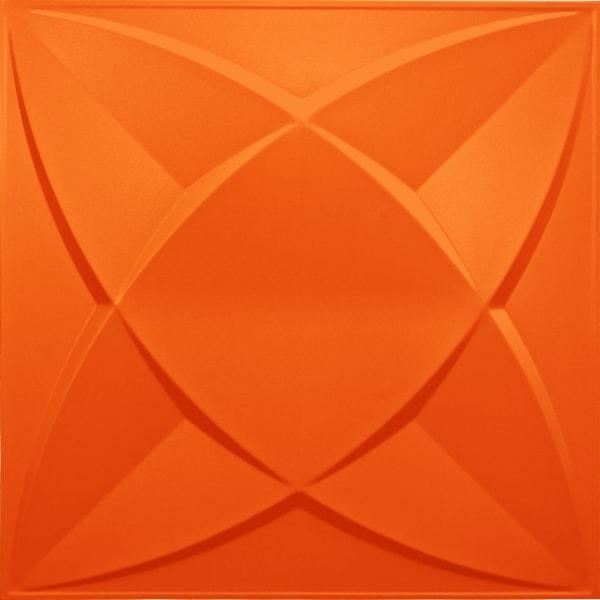 NDSB3002OR スチール製3パネル 3Dジン オレンジ色 300×300mm