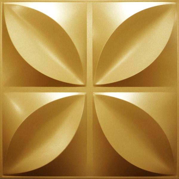 NDSB3004GL スチール製3パネル 3Dジン 金色 300×300mm