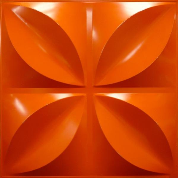 NDSB3004OR スチール製3パネル 3Dジン オレンジ色 300×300mm