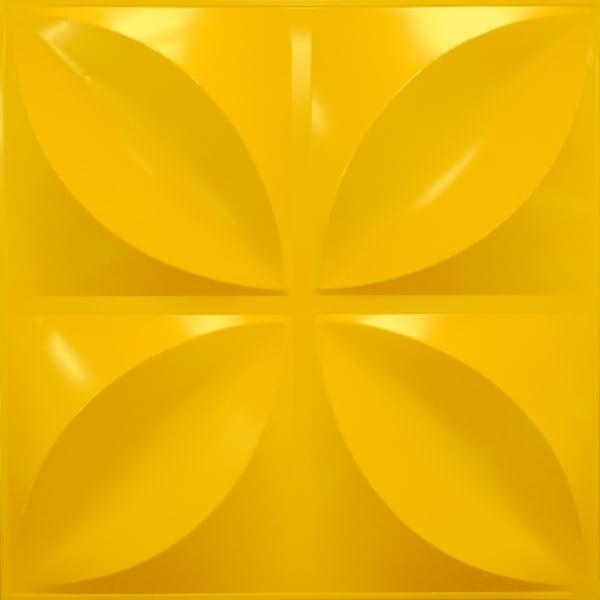 NDSB3004YE スチール製3パネル 3Dジン 黄色 300×300mm