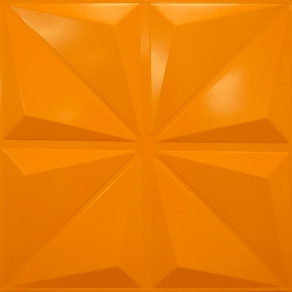 NDSB3005BY スチール製3パネル 3Dジン 山吹色 300×300mm