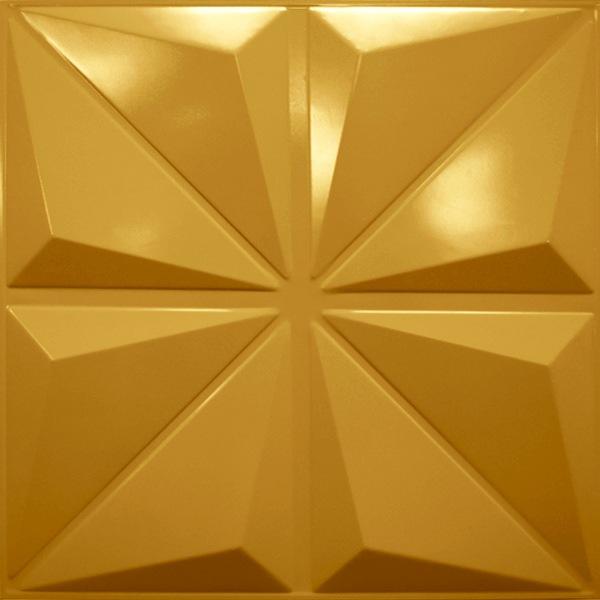 NDSB3005GL スチール製3パネル 3Dジン 金色 300×300mm