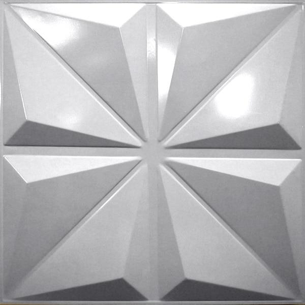 NDSB3005SL スチール製3パネル 3Dジン 銀色 300×300mm